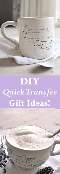 DIY Quick Transfer Gift Ideas! Dreams Factory for The Graphics Fairy. Love these quick Handmade Craft projects!