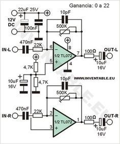 3 (bass mid treble) Tone control circuits projects using