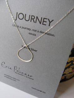Teardrop+Necklace++Graduation+Gift++Sterling+by+erinpelicano,+$44.00