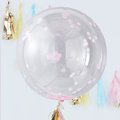 Ginger Ray Giant Pink Confetti Orb Balloons are a great way to go big and liven up a boring party venue. Fill these large latex balloons with helium and shake to wake the pink confetti! Ballons Brilliantes, Latex Balloons, Wedding Balloons, Birthday Balloons, Ballon Emoji, Latex Transparent, Image Ballon, Big Round Balloons, Organiser Une Baby Shower