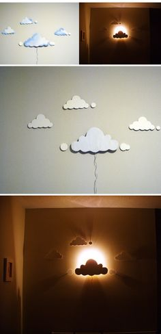 cloud night light 16 Creative DIY Projects With Usual Stuff