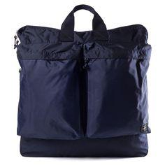 Porter-Yoshida & Co Navy FORCE 2-way Helmet Bag