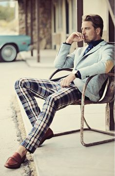 "From maninpink: ""1. Brooks Brothers Double-Face Cotton Pique Blazer2. Brooks Brothers Slim Fit Plaid Pants3. Brooks Brothers Peal  Co.® Lightweight Penny Loafers"""