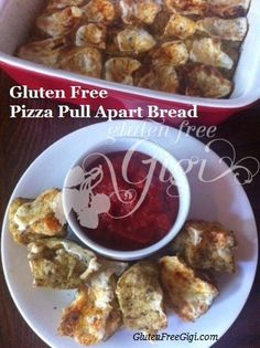 Gluten Free Pizza Pull-Apart Bread - also yeast-free and free from the top 8 food allergens, dairy optional. Bring back Family Pizza Night!