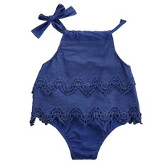 Newborn Clothing 2016 Baby Girl Cute Bodysuits Lace Outfits