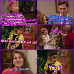 Full House Full House Memes, Full House Funny, Full House Quotes, Tv Quotes, Funny Quotes, Funny Memes, Hilarious, Fuller House Cast, Michelle Tanner