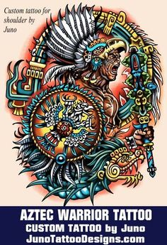 aztec warrior tattoo, juno tattoo designs