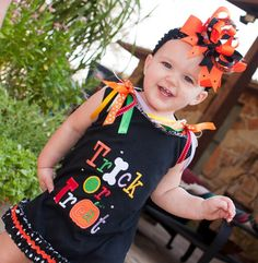 Trick or Treat Halloween Dress for Infants by AllDeckedOutBoutique, $30.00