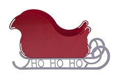 Medium Santa Sleigh Christmas Decoration with HO HO HO base >>> Click on the image for additional details.