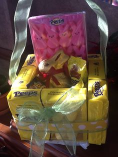 My attempt at a peeps basket, kind of fragile but lots of fun!