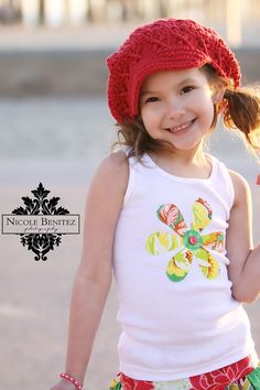 Flower Embelishment - Cute and easy applique for a shirt, just love!