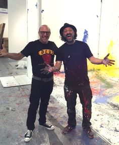 #Livefrom #artmiaminewyork with #Mr.Brainwash. Visit Booth B8 and B8b! #artmiami #NYC #streetartist #ThierryGuetta