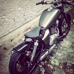 My suzuki gz 125 marauder bobber project, just painted in vintage metal grey from red
