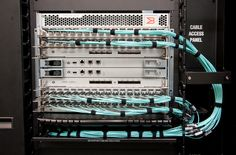DCX 8510 Cabling Installation (Front Side, Director Ports to Patch Panel):