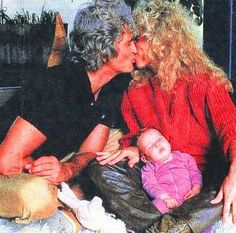 Michael and Cindy Clerico-Landon, just after the birth of Jennifer Landon, Michael's eighth, and Cindy's first, child.