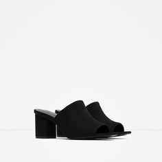 Image 2 of HIGH-HEEL BACKLESS SANDALS from Zara