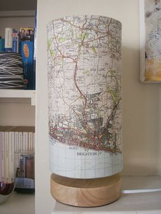 Brighton Map Lamp by philippastanton, via Flickr