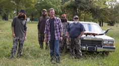 Willie's friend, NASCAR star Clint Bowyer, meets up with the Duck Commander crew to show them a dirt track in West Monroe that he's interested in buying. Willie Robertson, Robertson Family, Duck Dynasty Family, Justin Martin, Clint Bowyer, Tony Stewart Racing, West Monroe, Duck Commander, Quack Quack