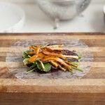 Soy-Glazed+Roasted+Carrot+Spring+Rolls