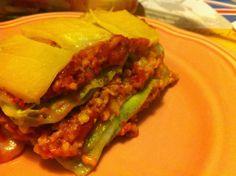 Abends gabs meine absolute Leibspeise: Lasagne Sojabolognese! Lecker!