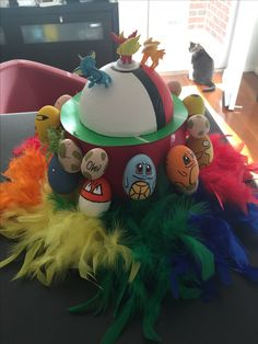 Made this Pokemon Easter hat in less than a day. Imagine if I'd put more effort into it!