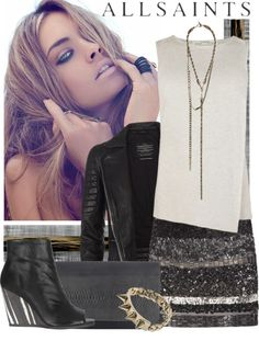 """""""Allsaints"""" by sajeeda ❤ liked on Polyvore"""