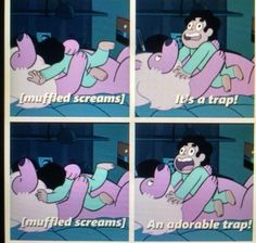 One of the many lines I love from this show: Steven Universe Steven Universe Funny, Lion Steven Universe, Steven Univese, Lapidot, Save The Day, Force Of Evil, Thing 1, Adventure Time, Nerdy