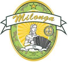 Cerveja Milonga IPA, estilo India Pale Ale (IPA), produzida por  Cervejaria Caseira, Brasil. 6.5% ABV de álcool.