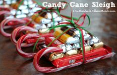 Easy-Kids-Christmas-Candy-Crafts-–-Candy-Cane-Sleigh6.jpg 550×358 pixels