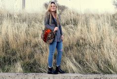 Boho Bag With Red Floral Velvet by Justbepurses on Etsy