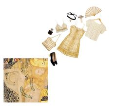 """""""klimt's muse"""" by neptunebby ❤ liked on Polyvore featuring Lalique, Chanel, Fleur't, Bisou Bijoux Ariela, Christian Louboutin and Balenciaga"""