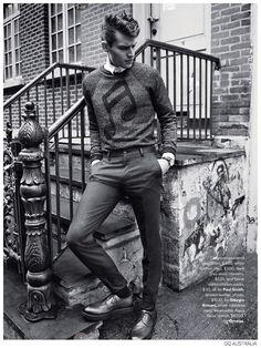 Vladimir Ivanov + Demy Matzen Model 60s Inspired Fashions for GQ Australia image Mod Styles Fashion Editorial GQ Australia 009