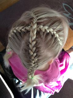 | french braid cross have to try on my daughter's