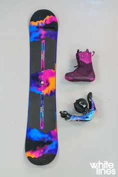 Maybe a different boot color but I love all of this otherwise Snowboard 🏂 Snowboard Design, Snowboard Girl, Vail Colorado, Whistler, Snowboard Equipment, Snow Gear, Snowboarding Outfit, Snow Fun, Wakeboarding