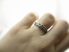 Palladium Infinity wedding ring - handmade in San Francisco. Sharon Z Jewelry by Sharon Zimmerman. On @Etsy !