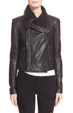 Veda 'Max Classic' Leather Jacket available at #Nordstrom