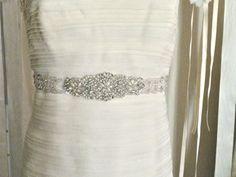 1 Beaded Bridal Sash Art Deco Wedding Belt silver by LiveAdorned, $175.00