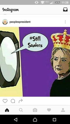 Mirror, Mirror on the wall whose name will be people be calling out at the convention???? #OccupyDNC #BernieSanders