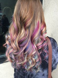 lange frisuren 2019 fantastic long hairstyle in colorful hair Hair Dye Colors, Cool Hair Color, Unicorn Hair Color, Underlights Hair, Cool Hairstyles, Long Hairstyle, Hairstyle Ideas, Rainbow Hairstyles, Pinterest Hair