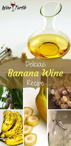 Delicious Banana Wine Recipe Anyone Can Make At Home Having a hard time finding a delicious banana wine recipe? Wine Turtle has the answer!Having a hard time finding a delicious banana wine recipe? Wine Turtle has the answer! Homemade Wine Recipes, Homemade Alcohol, Homemade Liquor, Brewing Recipes, Beer Recipes, Alcohol Recipes, Wine And Liquor, Wine And Beer, Wine Drinks