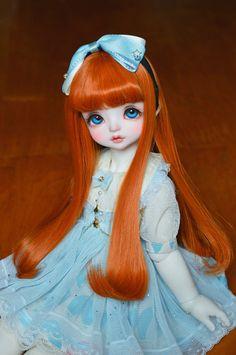 1/3 1/6 BJD Wig Long Curly Hair For BJD Dollfie blue,carrot, light pink | eBay