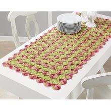 Bavarian Rosebud Table Runner Crochet Yarn Kit - Herrschners