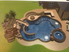 Absolutely love everything about this design! Backyard Pool Landscaping, Backyard Patio Designs, Swimming Pools Backyard, Swimming Pool Designs, Backyard Ideas, Small Pool Design, Luxury Pools, My Pool, Dream Pools