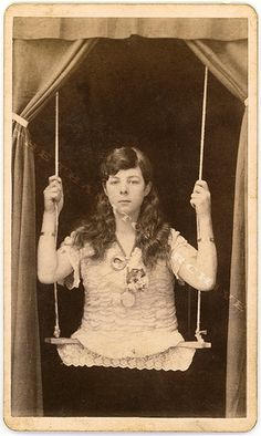 Circus Freak - Girl on a Swing by Jack Mord