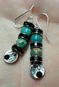 Blue Sea Jasper earrings, Natural sea jasper earrings, Gemstone bead earrings, earrings, gift Mothers Day, gift for her, Birthday gift