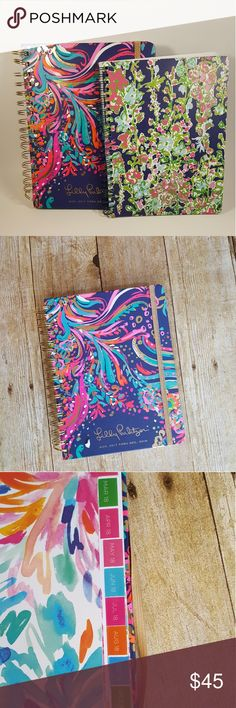"2017-2018 Lilly Pulitzer Day Planner & Notebook You are Buying: 2017-2018 Lilly Pulitzer JUMBO Agenda Monthly Daily Planner & Southern Charm Wired Notebook   Style: Beach Loot 17 Month Agenda Planner & Southern Charm Wired Notebook  Color: Multi Colored Size: OS Condition: Brand New with Tags Measurements: Agenda 9x7-1/2"" Southern Charm Wired Notebook 8""x6"" Lilly Pulitzer Accessories"