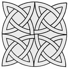 Geometric Coloring Pages - celtic mosaic pattern Stained Glass Patterns, Mosaic Patterns, Pattern Art, Embroidery Patterns, Quilt Patterns, Celtic Quilt, Celtic Symbols, Celtic Art, Celtic Knots