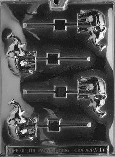 ELEPHANT LOLLY Sucker Chocolate Candy Mold Soap LPA016 by Preegle, $1.99