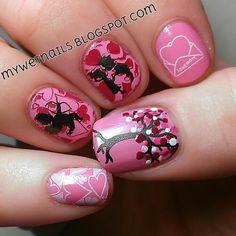Valentine's Day Nail Art - Winstonia Plate W102