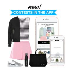 """""""YES! Enter Contests in the App!"""" by polyvore ❤ liked on Polyvore featuring T By Alexander Wang, adidas, Love Moschino and Topshop"""